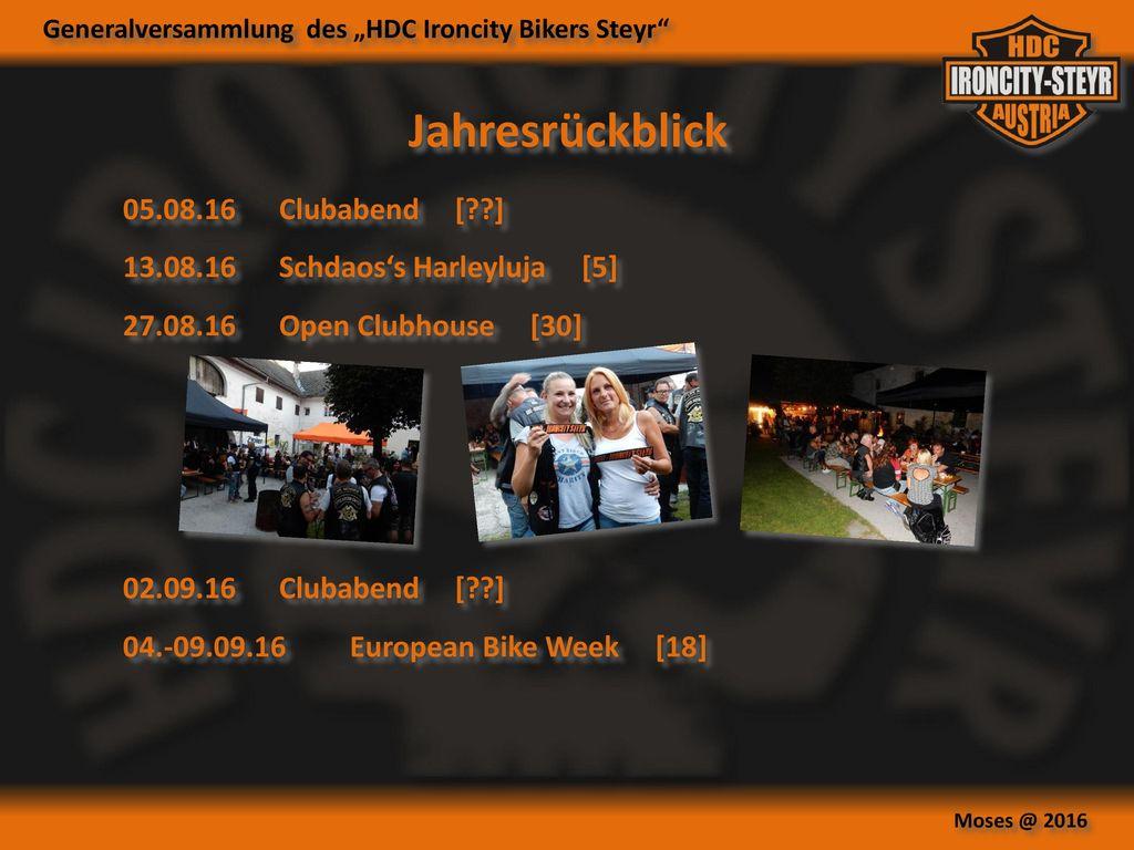 Jahresrückblick 05.08.16 Clubabend [ ]
